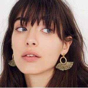 Madewell Tassle Hoop Earrings